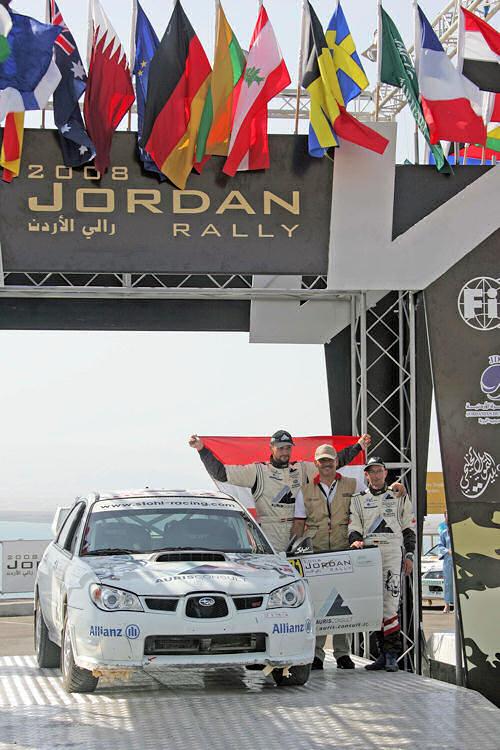 Rallye Jordanien - Auf der Zielrampe
