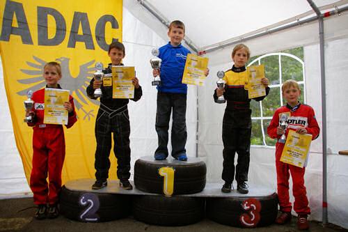 Siegerehrung K2 - 20. ADAC AMC Arzbach Kart-Slalom