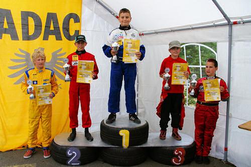 Siegerehrung Klasse K3 - 20. ADAC AMC Arzbach Kart-Slalom