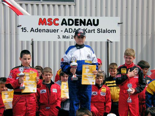 Siegerehrung Klasse K3 - MSC Adenau