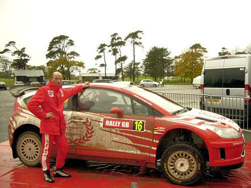 Michael Kölbach vor dem Citroen C4 WRC, Rally Großbritannien